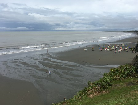 The beach at low tide in Ladrilleros, Valle del Cauca, Colombia