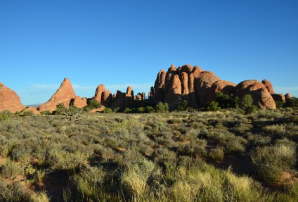 Skyline Arch area at Arches National Park in Utah