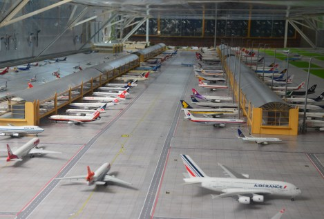 Model planes at Museo Aéreo Fénix in Palmira, Valle del Cauca, Colombia