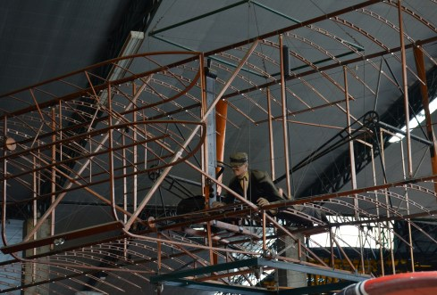 Replica Wright Brothers plane at Museo Aéreo Fénix in Palmira, Valle del Cauca, Colombia