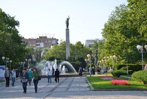 Troykata Square in Burgas, Bulgaria