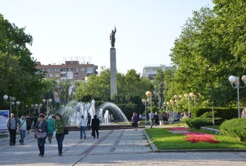 Troykata Square in Burgas, Bulgaria