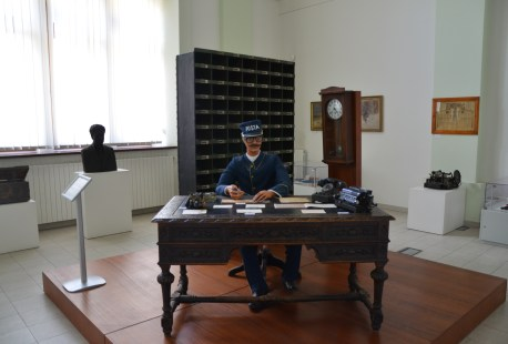 Postal exhibit at the National History Museum in Bucharest, Romania