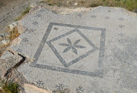 Mosaic in the Gymnasium in the Western Excavation Area in Kos, Greece