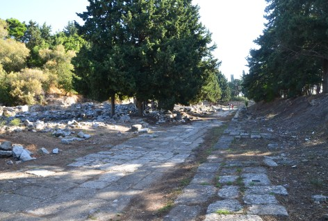 Roman road in the Western Excavation Area in Kos, Greece