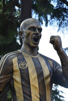 Alex de Souza monument in Yoğurtçu Parkı, Kadıköy, Istanbul, Turkey