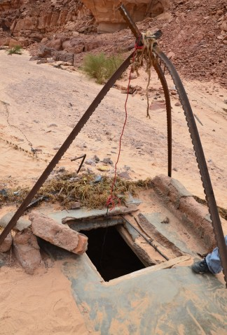 Bedouin well at the fake Colored Canyon in Sinai, Egypt