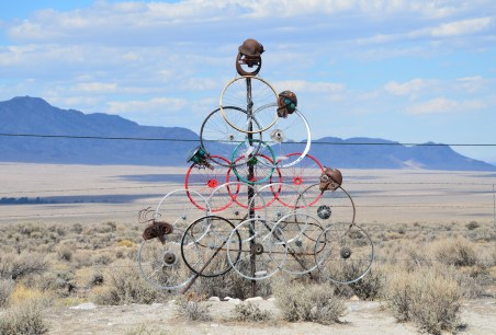 Road art in Baker, Nevada