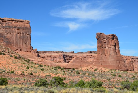 Sheep Rock at Courthouse Towers Viewpoint at Arches National Park, Utah