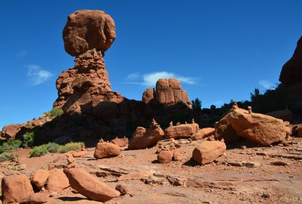 Balanced Rock at Arches National Park in Utah