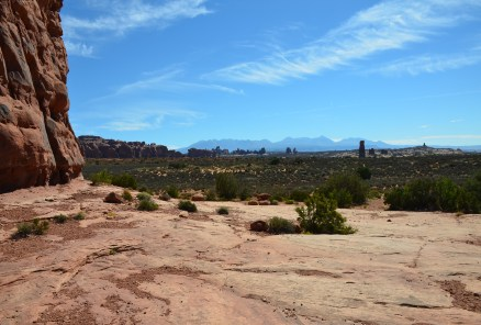 View from Balanced Rock at Arches National Park in Utah