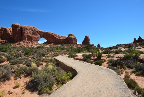 Windows Trail at the Windows Section at Arches National Park in Utah