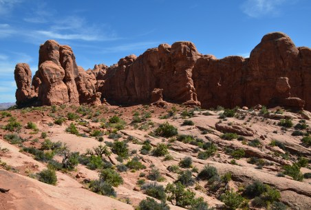 Garden of Eden at the Windows Section at Arches National Park in Utah