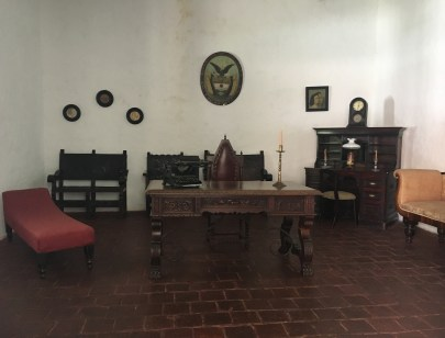 Father's study at Hacienda El Paraíso in Valle del Cauca, Colombia