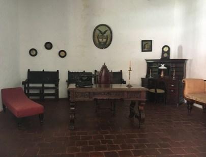 Father's study at Hacienda El Paraíso in Valle del Cauca, Colombia