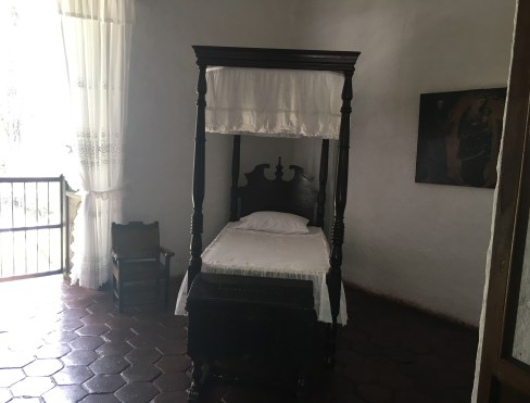 María's room at Hacienda El Paraíso in Valle del Cauca, Colombia
