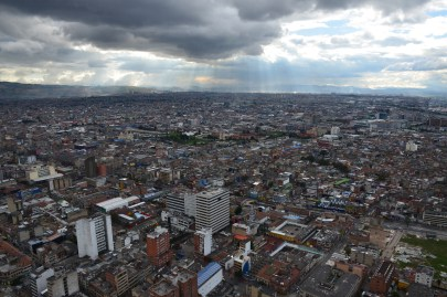 The view from Torre Colpatria in Bogotá, Colombia