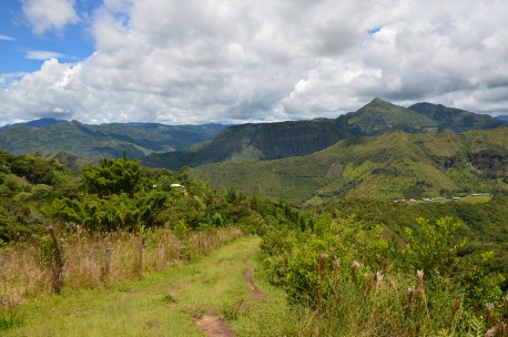 Steep downhill to El Duende at Tierradentro, Cauca, Colombia