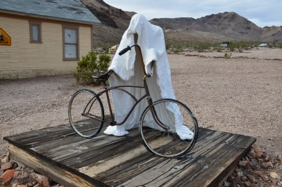 Ghost Rider at the Goldwell Open Air Museum in Rhyolite, Nevada