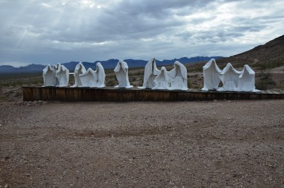 The Last Supper at the Goldwell Open Air Museum in Rhyolite, Nevada