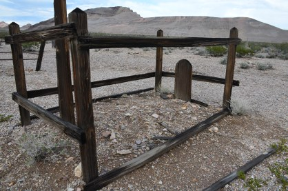 A simple grave at the cemetery in Rhyolite, Nevada