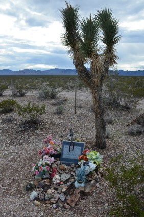 More recent grave at the cemetery in Rhyolite, Nevada