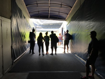 Visitor's tunnel at Soldier Field in Chicago, Illinois