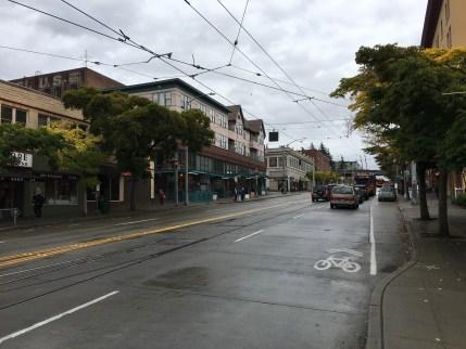 Jackson Street in the International District in Seattle, Washington