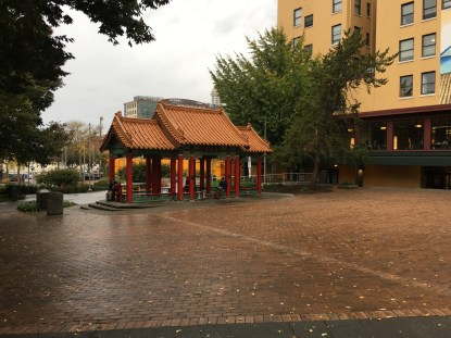 Hing Hay Park in the International District in Seattle, Washington