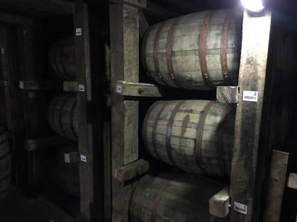 Barrels at Jim Beam American Stillhouse in Clermont, Kentucky