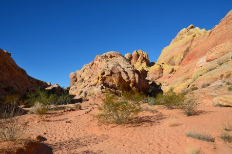 Second mile of the White Domes Trail at Valley of Fire State Park in Nevada