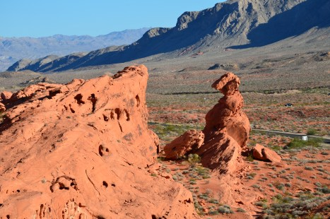 Balanced Rock at Valley of Fire State Park in Nevada