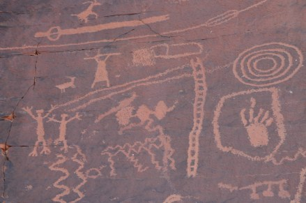 Atlatl Rock at Valley of Fire State Park in Nevada