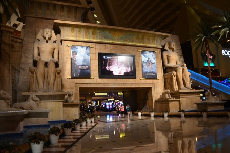 Entrance to the casino at Luxor in Las Vegas, Nevada