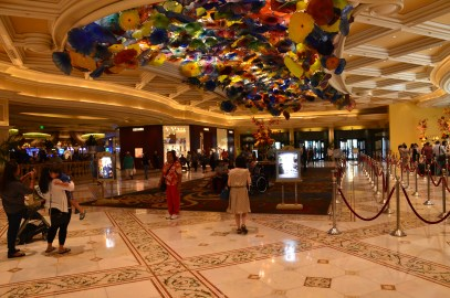 Lobby at the Bellagio in Las Vegas, Nevada