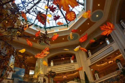 Falling leaves at the Palazzo in Las Vegas, Nevada