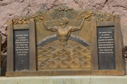 Memorial to workers at Hoover Dam in Nevada