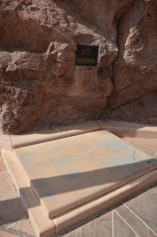 Mascot's tomb at Hoover Dam in Nevada