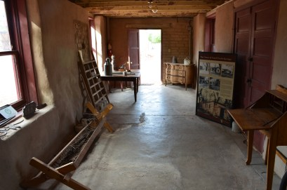Period items at Old Las Vegas Mormon Fort State Historic Park in Nevada