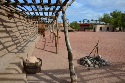 The fort at Old Las Vegas Mormon Fort State Historic Park in Nevada