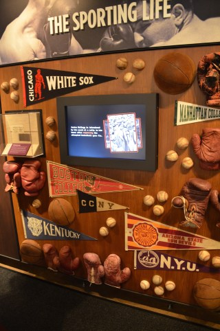 Organized crime in sports at the Mob Museum in Las Vegas, Nevada