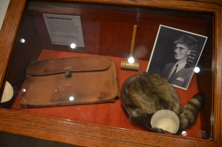 Personal items of Estes Kefauver at the Mob Museum in Las Vegas, Nevada