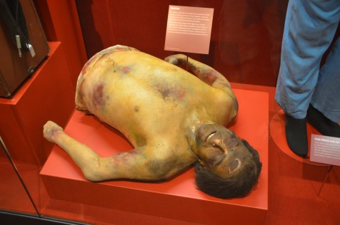 Dummy from Goodfellas at the Mob Museum in Las Vegas, Nevada