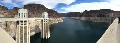 Panoramic view from the back side of the dam at Hoover Dam in Nevada