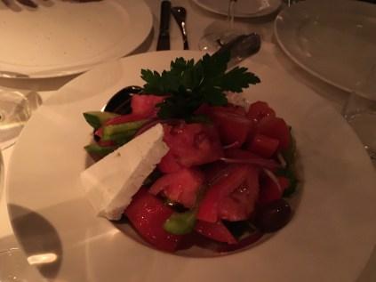 Greek village salad at Estiatorio Milos in Las Vegas, Nevada