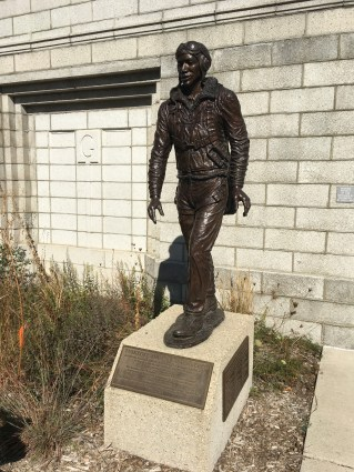 Tuskegee Airmen statue at Marquette Park, Miller Beach, Gary, Indiana