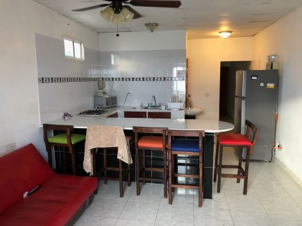 Kitchen at Rocky Cay Bay in San Andrés, Colombia