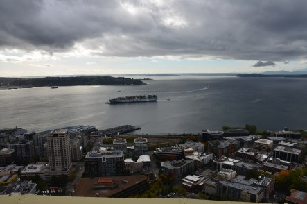 Puget Sound from the Space Needle in Seattle, Washington