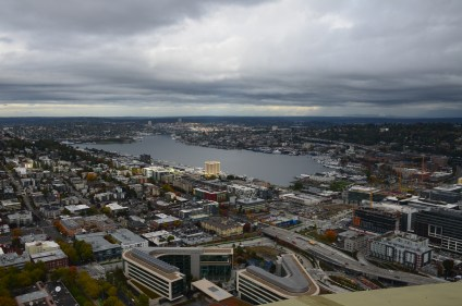 The view from the Space Needle in Seattle, Washington