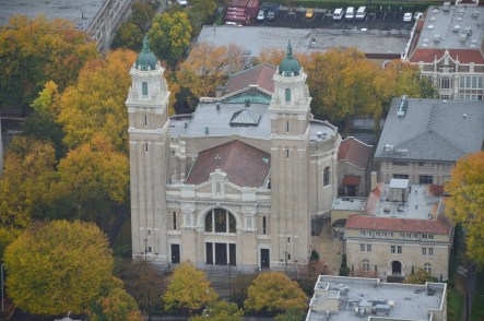 St. James Cathedral from Columbia Center in Seattle, Washington